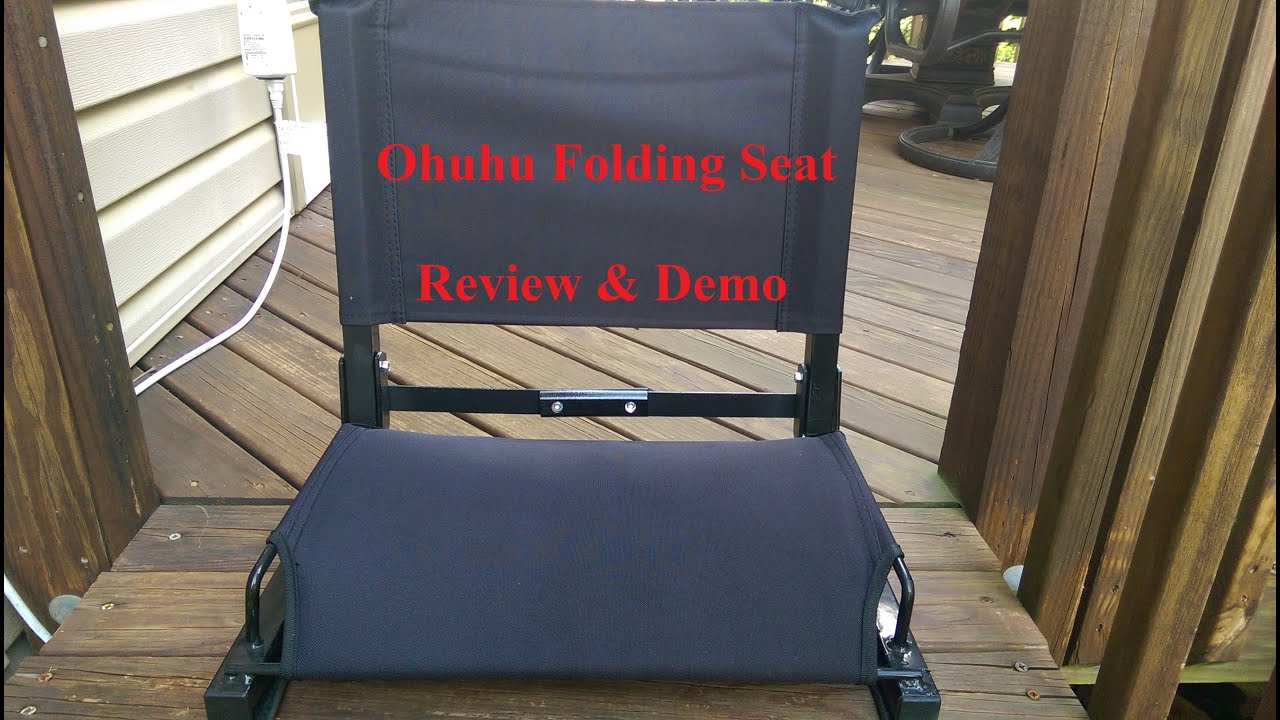 Ohuhu Steel Folding Stadium Chair Supports up to 400 lbs