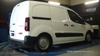 Reprogrammation Moteur Peugeot Partner 1.6 hdi 92cv @ 124cv Digiservices Paris 77183 Dyno