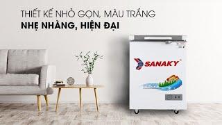 Tủ đông 100 lít Sanaky VH-1599HYK giá rẻ. tủ đông mini nhỏ nhất gia đình. khuyến mãi tủ đông sanaky