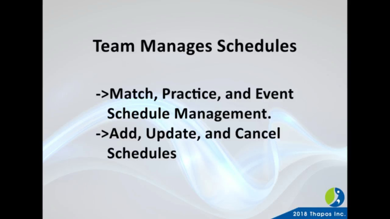 sports scheduling software league schedule maker from thapos youtube