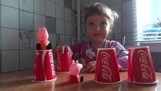 Miss Eva играет с игрушками Свинка Пеппа!