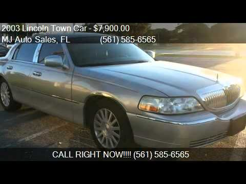 Mj Auto Sales >> 2003 Lincoln Town Car Executive For Sale In Lantana Fl 3346