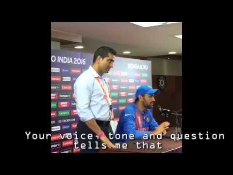 Dhoni rips into journalist after India vs Bangladesh #WT20