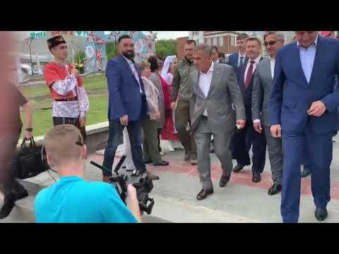 Федеральный Сабантуй в Новосибирске.  Приехал Рустам Минниханов  08.06.2019 г.