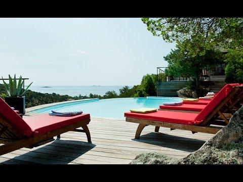 location luxe villa porto vecchio 8 pers avec piscine privee face a la mer en corse youtube. Black Bedroom Furniture Sets. Home Design Ideas