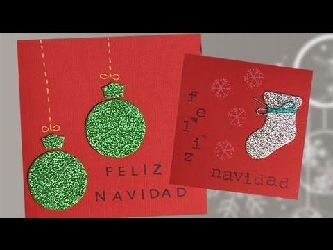 Postales de navidad con purpurina manualidades para ni os - Como hacer tarjetas de navidad faciles ...