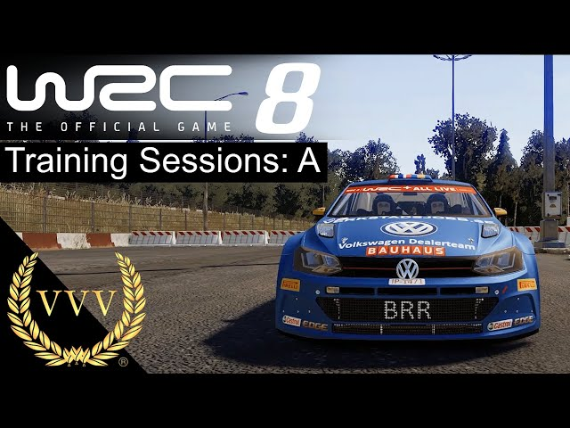 WRC 8 Gameplay Training Sessions A