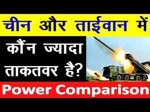 china vs Taiwan military power comparison चीन और ताईवान के बीच Military Power Comparison 2020