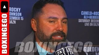 """""""CANELO CAN FIGHT THE BEST AT 160 OR 168"""" SAYS OSCAR DE LA HOYA 