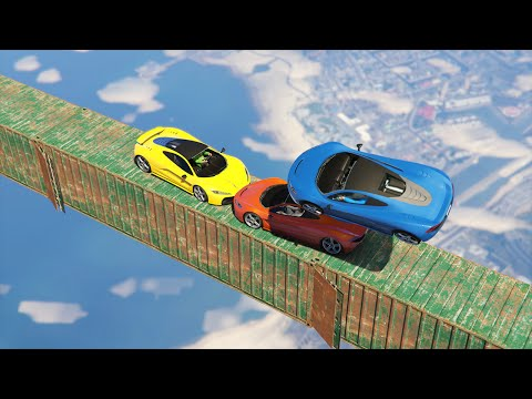 SKY HIGH CAR GAMES! (GTA 5 Funny Moments)