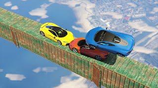 SKY HIGH CAR GAMES! (GTA 5 Funny Moments)