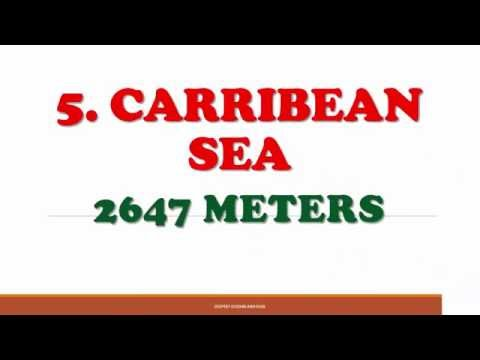 TOP 10 DEEPEST OCEANS AND SEAS OF THE WORLD- DEPTH IN METERS
