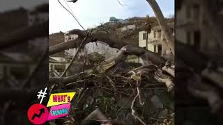 Scary First Video Miami hit by Irma Hurricane , Florida   hurricane Irma aftermath ⚠️
