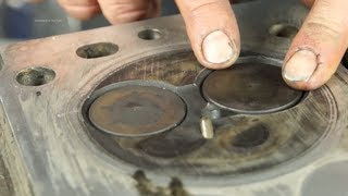 What to measure when stripping valves out of a cylinder head.  OHV Spring Compressor.