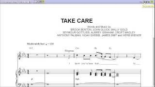 """Take Care"" by Drake - Piano Sheet Music (Teaser)"