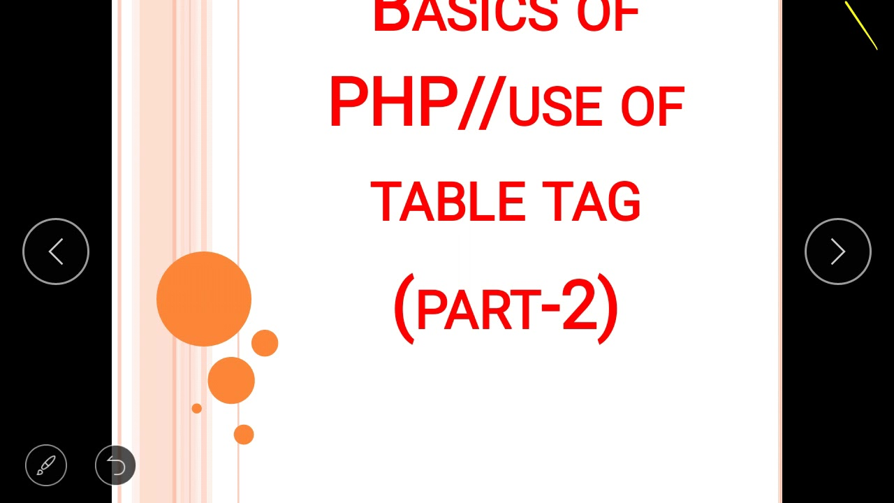 How to create table in php and use of bgcolor in php youtube for Table design using php