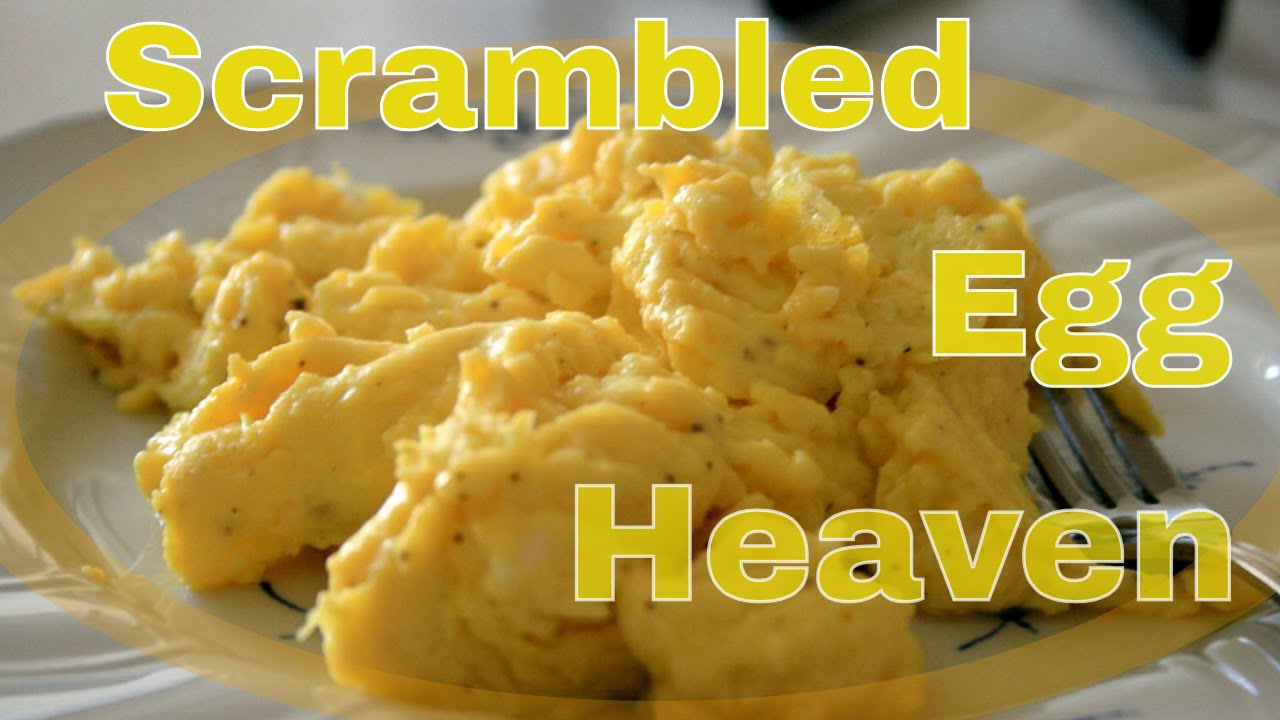 how to make simple scrambled eggs without milk