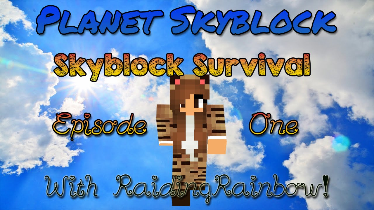 SkyBlock Survival Ep. 12 w/ RaidingRainbow! ☆ Rainbow's Lake! ☆