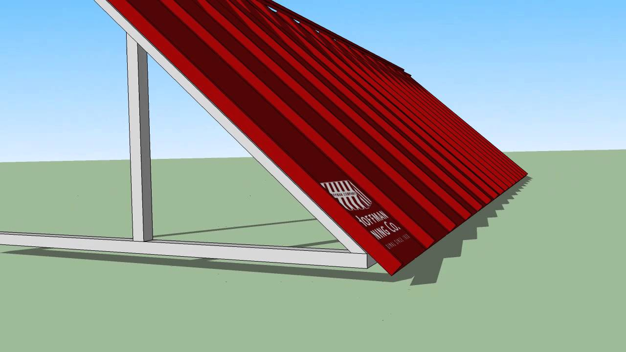Pac Clad Standing Seam Awning Youtube