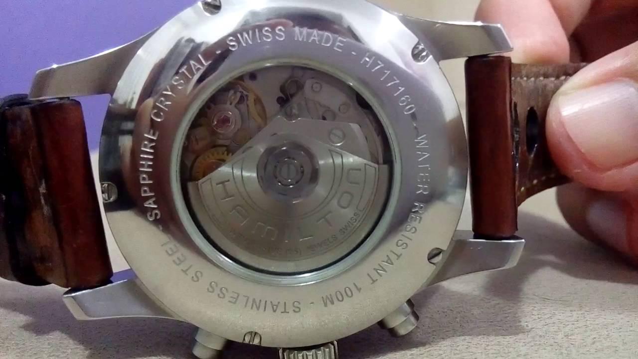 219012751a4 Relógio Hamilton Khaki Chrono Automatico Ref. H717160 - YouTube