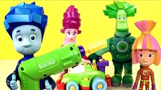 Фиксики собирают гоночную машинку Build&Play - Развивающий мультик с игрушками Fixiki