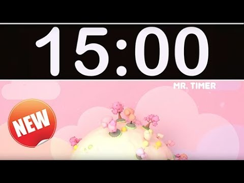 15 Minute Timer with Music for Kids, Children, Classroom!