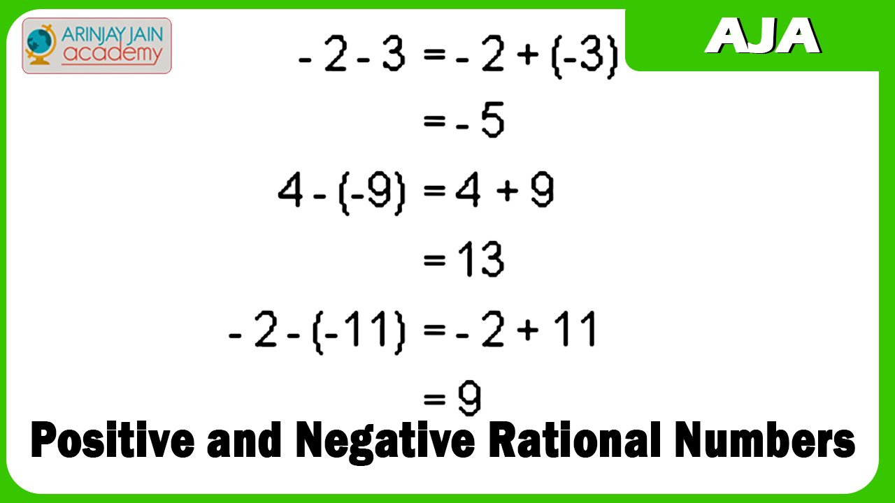 1027 positive and negative rational numbers youtube