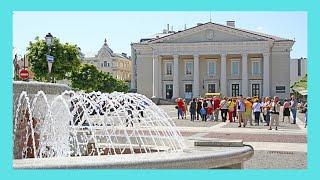 Vilnius, the fountain of Town Hall Square (Lithuania)