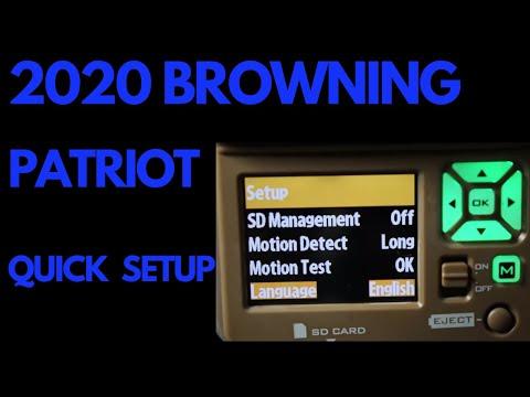 2020 BROWNING PARTRIOT QUICK SETUP BTC-PATRIOT- FHD
