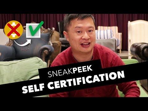 Self Certification Sneak Peek!