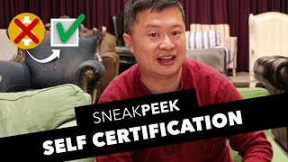 Self Certification Sneak Peek! thumbnail