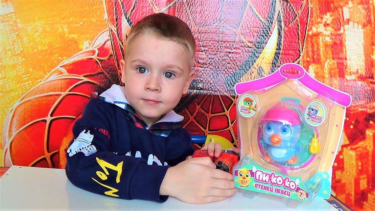 распаковка игрушек - игрушка птенец певец - видео про игрушки для детей