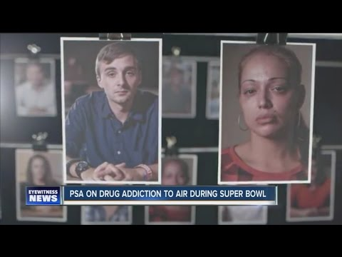 PSA on drug addiction to air during the Super Bowl