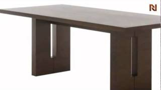 Nico Large Dining Table Black Oak Hgem260 By Nuevo