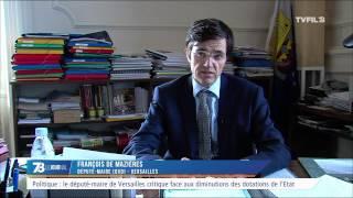 Politique : le député-maire de Versailles critique face aux diminutions des dotations de l'Etat