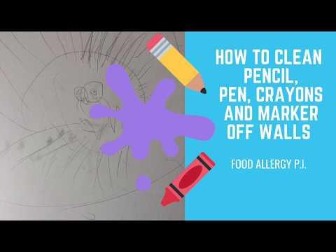 How to Clean Pencil, Pen, Crayon & Marker Off Walls