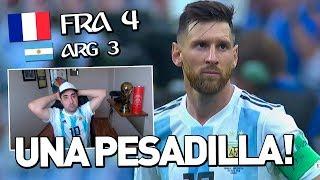 ARGENTINA 3 FRANCIA 4 | MUNDIAL RUSIA 2018 | REACCIÓN DEL PARTIDO