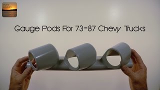 Gauge Pillar Pods for 1973-1987 Chevy and GMC Trucks