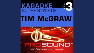 She's My Kind Of Rain (Karaoke With Background Vocals) (In the style of Tim McGraw)