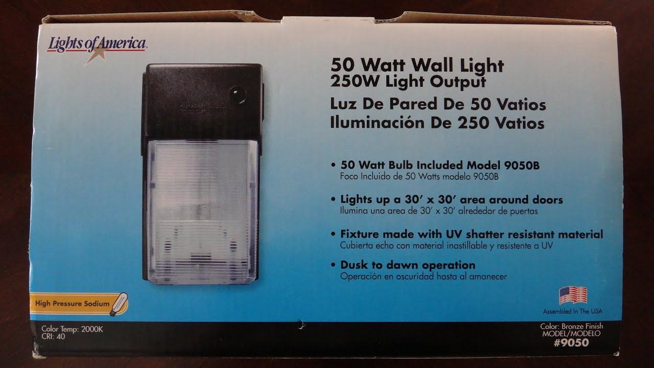 Lights Of America 50watt HPS Wall Light (Bronze)