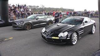 DRAGRACE | Ford Mustang GT vs. Audi RS6 vs. Mercedes SLR vs. Lamborghini LP560 vs. Audi RS3