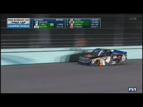 NASCAR Camping World Truck Series 2017. Homestead-Miami Speedway. Last Laps