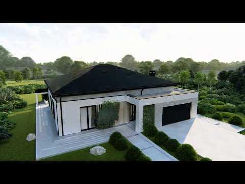 Современный проект одноэтажного дома Z466 от Z500
