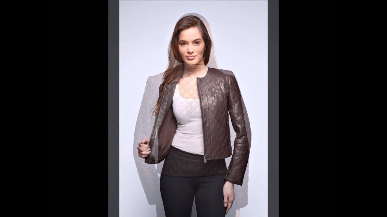 Bien connu Mode : Blouson cuir femme Eliza marron Giorgio - YouTube PM58