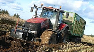 Case IH 340 Magnum CVX Digs It Self into The Ground | Saved By Unimog Rescue | DK Agriculture