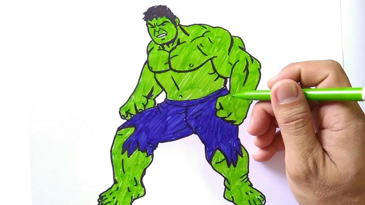 How To Draw Hulk Cara Menggambar Hulk Youtube