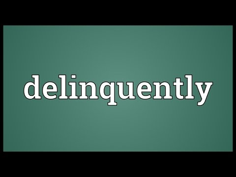 Header of delinquently