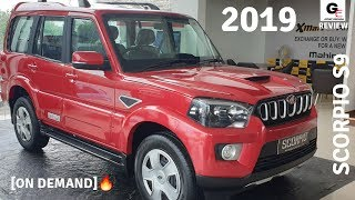 2019 Mahindra Scorpio S9 🔥🔥  red color   most detailed review   price   features   specs !!!