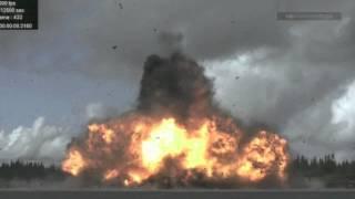 slow motion detonation of 950 kilo bomb