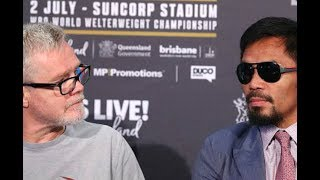 SET UP!! FREDDIE ROACH AGREES WITH VULTURE BOB ARUM!! MANNY PACQUIAO CORNER WAS A MESS!